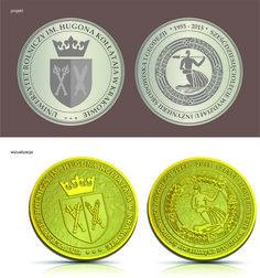 Projekt medalu dla UR Kraków -  Wydział Inżynierii Środowiska i Geodezji z okazji 60-lecia wydziału. Medal odlany w brązie.