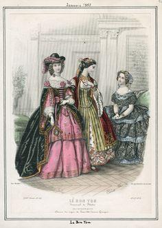 Le Bon Ton, January 1857. LAPL Visual Collections.