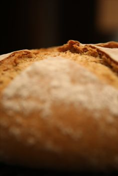 Artisanal Homemade sourdough bread baked in iron cast casserole.