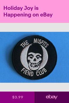 Misfits noir avec logo violet brodé Patch//fer sur Applique