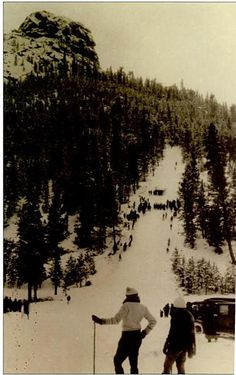 Anyone remember the days of ski slopes in Estes Park, Colorado? A new documentary on Hidden Valley ski resort in Rocky Mountain National Park is being filmed. This is a shot outside the park of the ski jump on Old Man Mountain. Cool!
