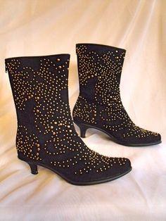 Ah, my first pair of Beverly Feldman's, so love these funky studded kitten heels!