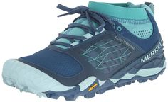 Merrell All Out Terra Trail - Zapatillas de running de material sintético para mujer azul Bleu (Blue/Aqua) 38