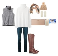 """""""To days outfit"""" by tcolasante on Polyvore featuring Frame, Uniqlo, Patagonia, Tory Burch, Burberry, Speck, Capelli New York and Loro Piana"""
