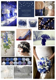 starry night wedding theme - winter, midnight blue, sparkle