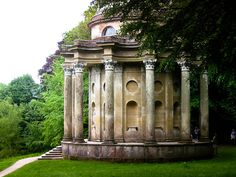 Stourhead Garden, England ... this is the folly from the scene in the rain in Pride & Prejudice