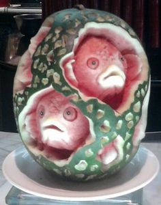 watermelon sculpture - Google Search