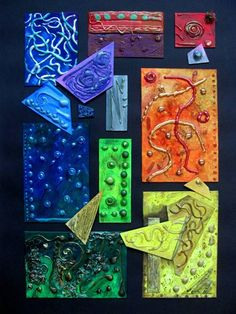 Low Relief Assemblage and Texture Study - Conway High School Art Project