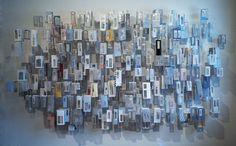 Elizabeth Duffy's installation piece using security envelopes...