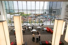The average age of employees is 27 at PwC's Boston Harbor office, which opened in 2015....