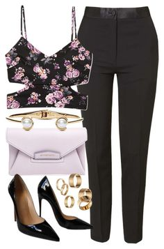 """""""Look #468"""" by foreverdreamt ❤ liked on Polyvore featuring Topshop, Forever 21, Givenchy, Christian Louboutin, Kate Spade, Apt. 9, women's clothing, women's fashion, women and female"""
