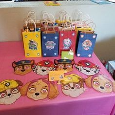Ideas Birthday Kids Goodie Bags Party Printables For 2019 Baseball Birthday Party, Fairy Birthday Party, Baby Boy 1st Birthday, 4th Birthday Parties, Paw Patrol Party Favors, Paw Patrol Birthday Theme, Cumple Paw Patrol, Party Bags, Party Printables