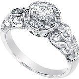 Gorgeous! Women's 14k White-gold Moissanite And Diamond Ring | Moissanite Rings, Moissanite Gems, Wedding Engagement & More