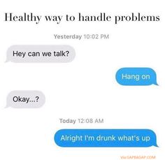 Funny Text about Drunk vs. Talking