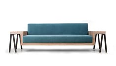 DAVID sofa ||  Rigorous and charming David brings comfort and support together, leaving you weak at your knees and ready to dive into softness. Thick wooden frame appears robust and weightless at the same time. Deep arms form side trays for your book, tablet or a cup of coffee, making this sofa a multifunctional centerpiece of living space or an office suite. // All good things which exist are the fruits of originality. - John Stewart Mill