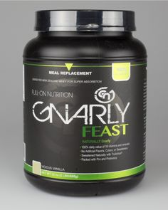 Beefed up post workout: Gnarly Feast 100% daily value of 16 vitamins and minerals No Artificial Flavors, Colors, or Sweeteners Sweetened Naturally with Trulicious® stevia Packed with Pro and Prebiotics