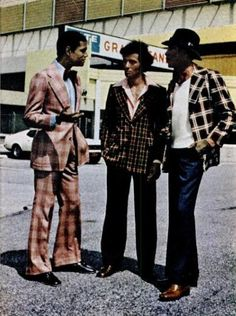 they were serious about their plaid suits, 1970
