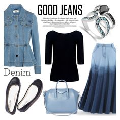 """Double Down on Denim"" by blossom-jewels ❤ liked on Polyvore featuring Fendi, Theory, Givenchy, Denimondenim, contestentry and Blossomjewels"