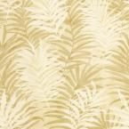 The Wallpaper Company 56 sq. ft. Beige Tropical Leaves Wallpaper-WC1281755 at The Home Depot