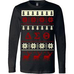 Delta Sigma Theta Ugly Christmas Sweater