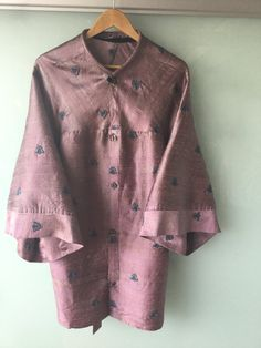 Stunning Emboidered Kimono in Hand Dyed Silk by UlricDesign on Etsy