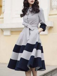 Buy Shirt Dress Elegant Dresses For Women from 1453 at Stylewe. Online Shopping Stylewe Shirt Dress Long Sleeve Casual Dresses Date A-Line Shirt Collar Paneled Elegant Dresses, The Best Daily Elegant Dresses. Discover unique designers fashion at stylewe. Simple Dress Casual, Casual Summer Dresses, Classy Dress, Simple Dresses, Cute Dresses, Maxi Dresses, Casual Outfits, Dance Dresses, Long Casual Dresses