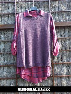 #sueter #auroramateomoda #shoppingbcn #modainvierno2014 #chaleco #camisa