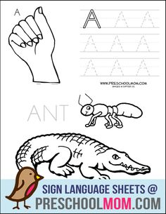 ASL Handwriting Sheets.  Complete set of Upper and Lowercase alphabet