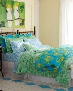 NIP-LILLY-PULITZER-Leaf-It-To-Me-KING-COVERLET-Garnet-Hill-Bedding-Priority-Ship