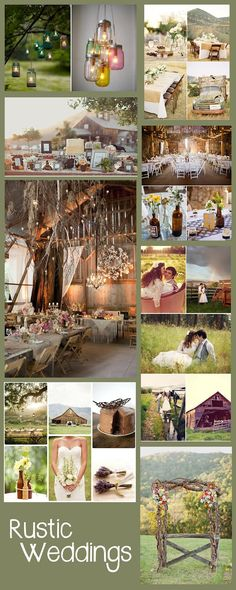 Rustic Barn Weddings....I like how they use the rustic frames on the table....it would be cute to put like sepia colored pics from our past