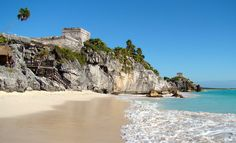 The seaside view of El Castillo at Tulum