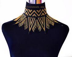 Zulu beads Choker spread necklace