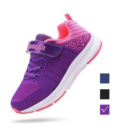 a7854baa26 Kids Tennis Shoes for Boys Breathable Running Shoes Girls Sneaker  Lightweight - Purple - CC18IH6LLS4