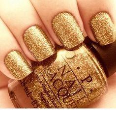 OPI gold glitter
