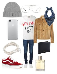 """""""Karev"""" by vejacomotenpovoa ❤ liked on Polyvore featuring Gucci, MIANSAI, Vans, Tom Ford, Chanel, Ray-Ban, STELLA McCARTNEY, RRL, men's fashion and menswear"""