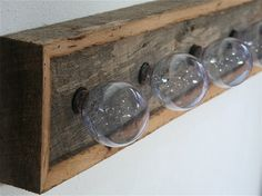 reclaimed barn wood vanity light. i love etsy