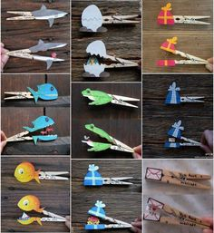 Diy clothespin animated characters