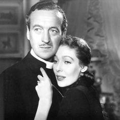 Loretta Young with David Niven in THE BISHOP'S WIFE ('48)