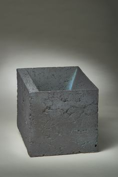 """""""Cube Study 2"""" by Zane Wilcox -- 2013; Reduction fired stoneware; solid formed 20.5 x 20.5 x 20.5; Value: $500.00; For Sale. Hand Craft Work, Stoneware, Cube, Study, Crafts, Studio, Manualidades, Investigations, Handmade Crafts"""