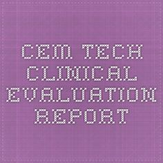 CEM TECH clinical evaluation report