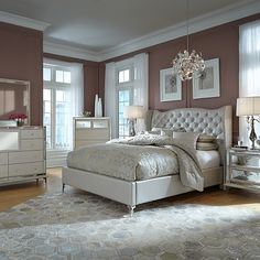 this look is cute too for my room <3  Timeless Designs by Furniture Designer Michael Amini.