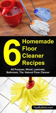 """Homemade Hardwood Floor Cleaner For Sparkling Floors. Take your hardwood floors from dull to """"oh la la!"""" with this homemade hardwood floor cleaner. This eco-friendly cleaner is made with … Natural Floor Cleaners, Homemade Floor Cleaners, Homemade Toilet Cleaner, Diy Cleaners, Homemade Laminate Floor Cleaner, Kitchen Cleaners, House Cleaners, Homemade Soaps, Homemade Products"""