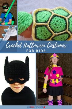 You'll be surprised to see the variety of crochet costumes you can make with these chosen designs: it goes far beyond your typical witch or ghost costume. Crochet Halloween Costume, Halloween Costume Patterns, Halloween Costumes To Make, Crochet Costumes, Halloween Crochet Patterns, Costume Ideas, Ghost Costumes, Halloween Halloween, Vintage Halloween