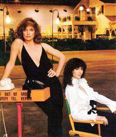 Linda Gray and Victoria Principal.