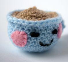 Stuffed Animals – Little Blue Crocheted Teacup – a unique product by mooseandbear on DaWanda