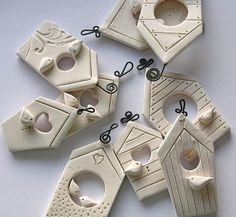 little birds and houses - good idea for out of clay