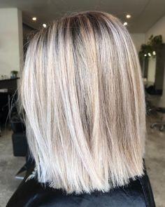 "1,111 Likes, 7 Comments - Kaitlin Jade - Hair & Harlow (@hairbykaitlinjade) on Instagram: ""Straight LOB ✂️ @hairandharlow #behindthechair #hairandharlowblondes #hairbykaitlinjade"""