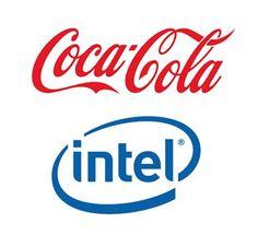 Coca-Cola logo and Intel logo