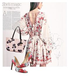 """""""dress"""" by masayuki4499 ❤ liked on Polyvore featuring Nine West, Nicole, Kate Spade and Blume"""