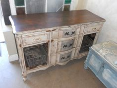 Distressed sideboard - The Iron Pelican Antiques & Home Decor